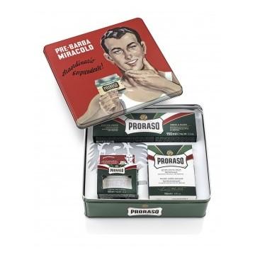 Proraso Gino Vintage Shaving Kit Vintažinis rinkinys skutimuisi, 1vnt.