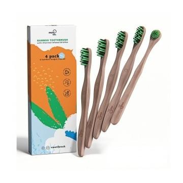 Moti-co Bamboo Toothbrush Kit Bambukinis burnos priežiūros rinkinys, 1vnt