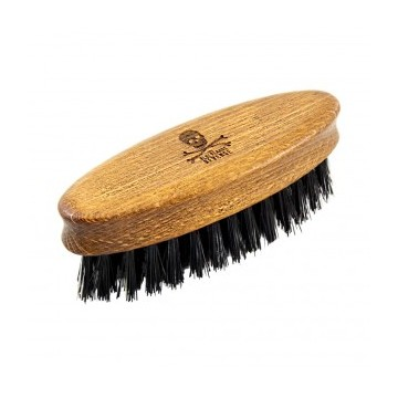 The Bluebeards Revenge Synthetic Travel Beard Brush Kišeninis barzdos šepetys, 1 vnt.